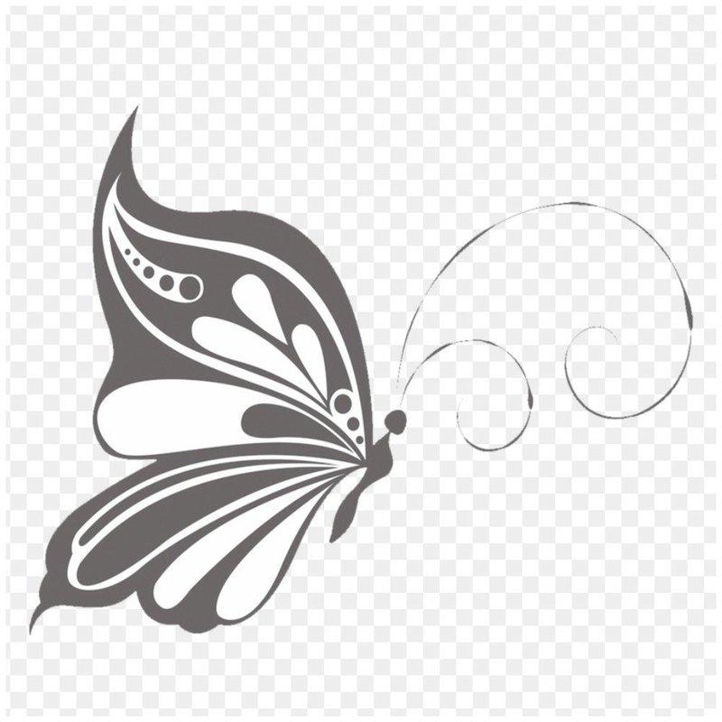 Эскиз бабочки для тату