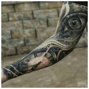 Тату-рукав с глазом