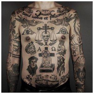 Тюремные татуировки на теле