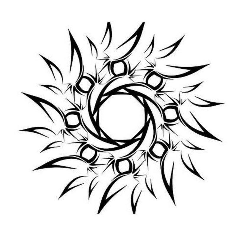 Оригинальный круг эскиз для тату