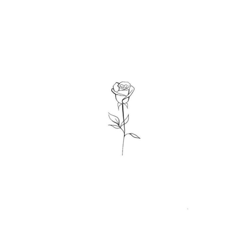 Маленькая роза эскиз для тату
