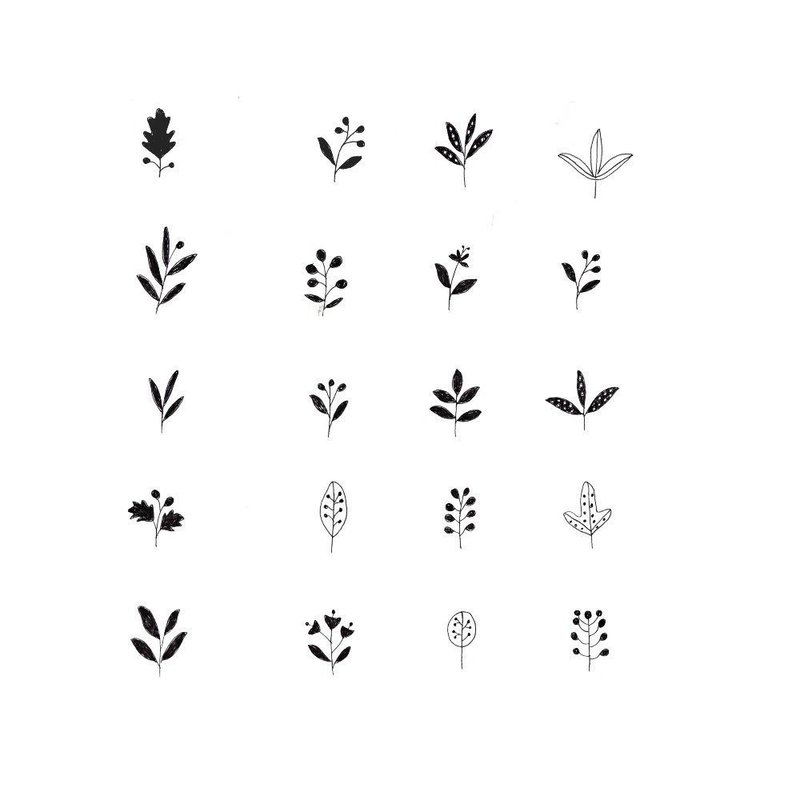 Эскизы тату с листками