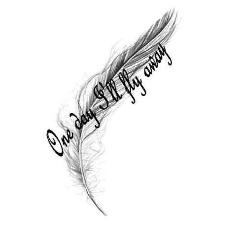 Оригинальная надпись эскиз для тату