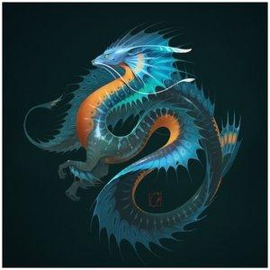 Красивый китайский дракон рисунок для тату