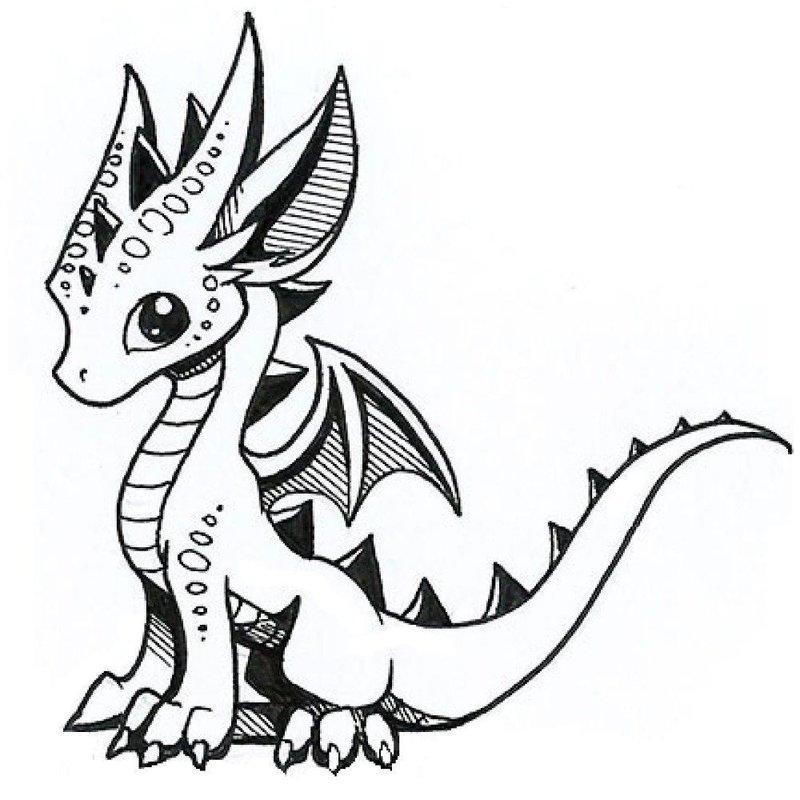 Милый дракон эскиз