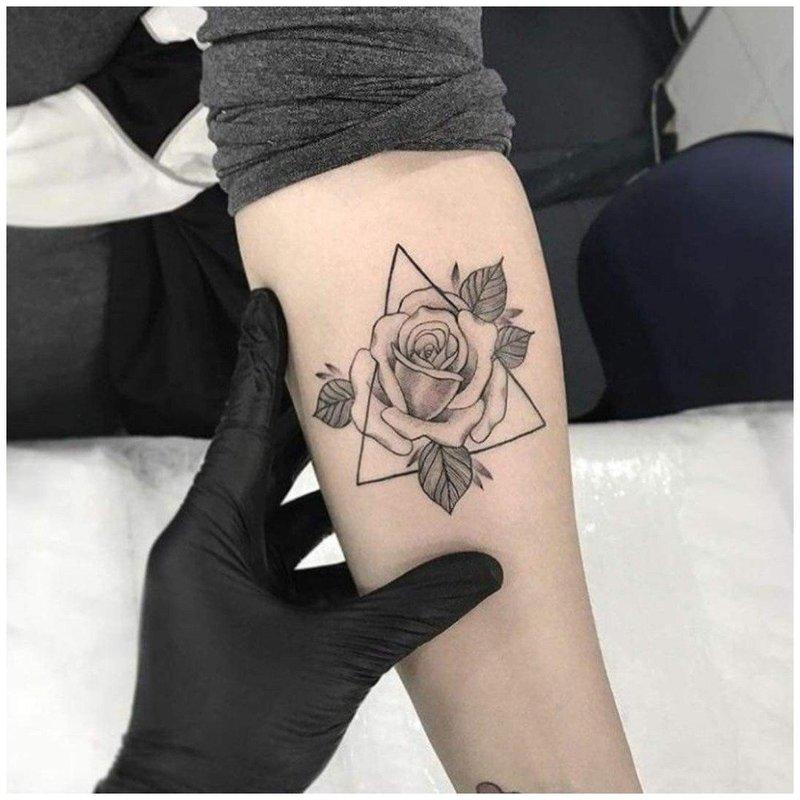 Роза в треугольнике