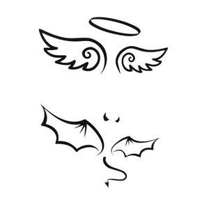 Эскизы тату-крылья