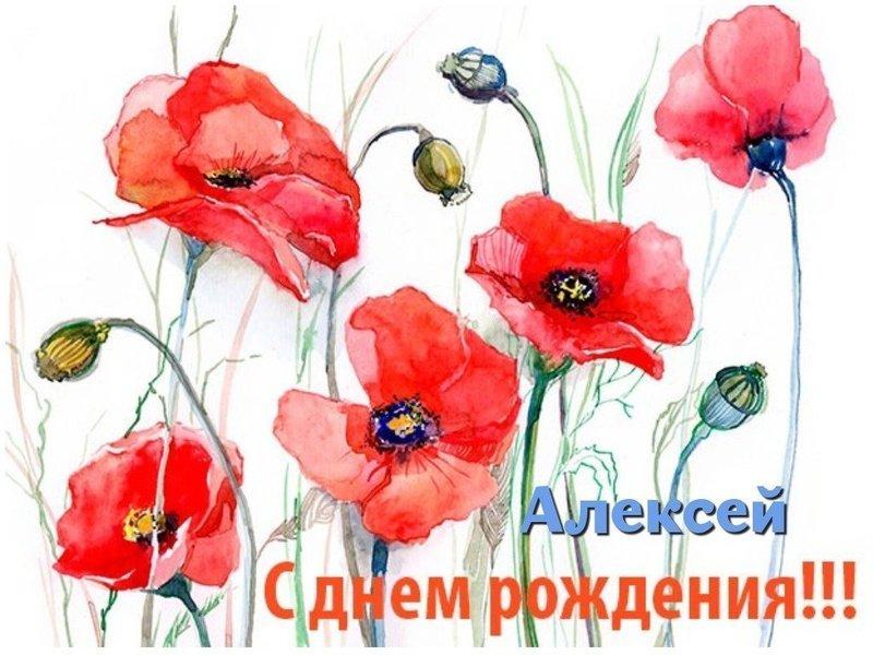 С днем рождения Алексей открытка