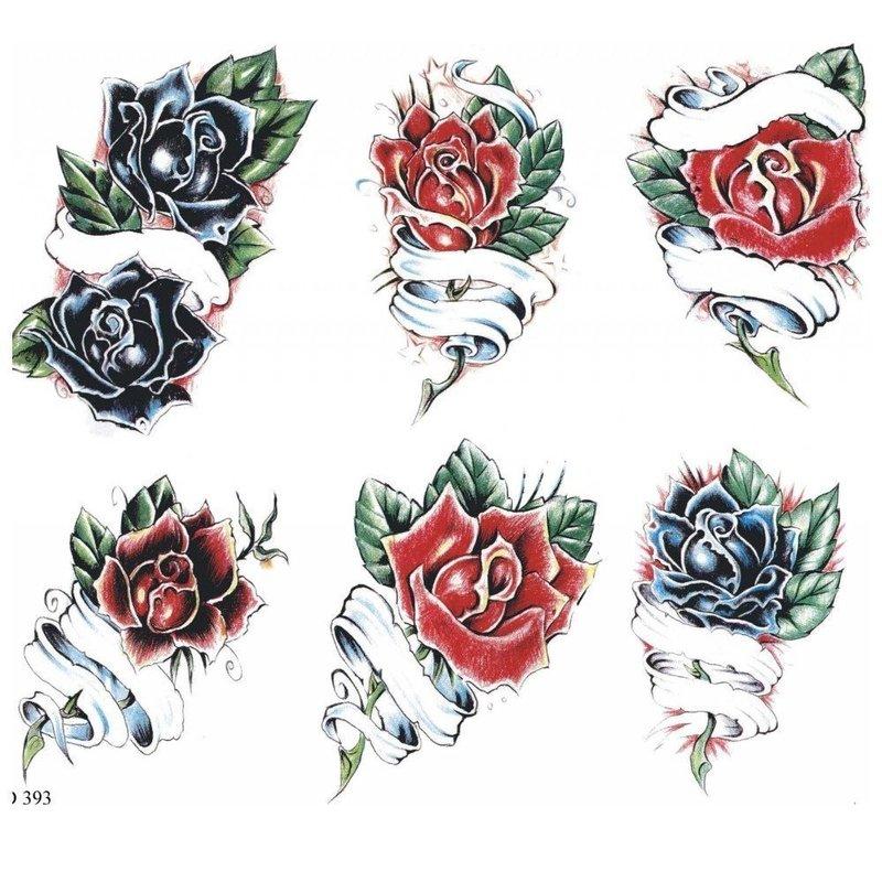 Эскизы тату с розами