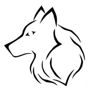 Тату волка ручкой
