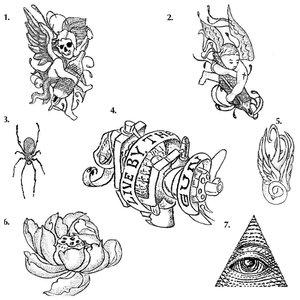 Эскизы женских тюремных тату