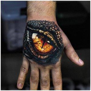 Тату глаз змеи 3D