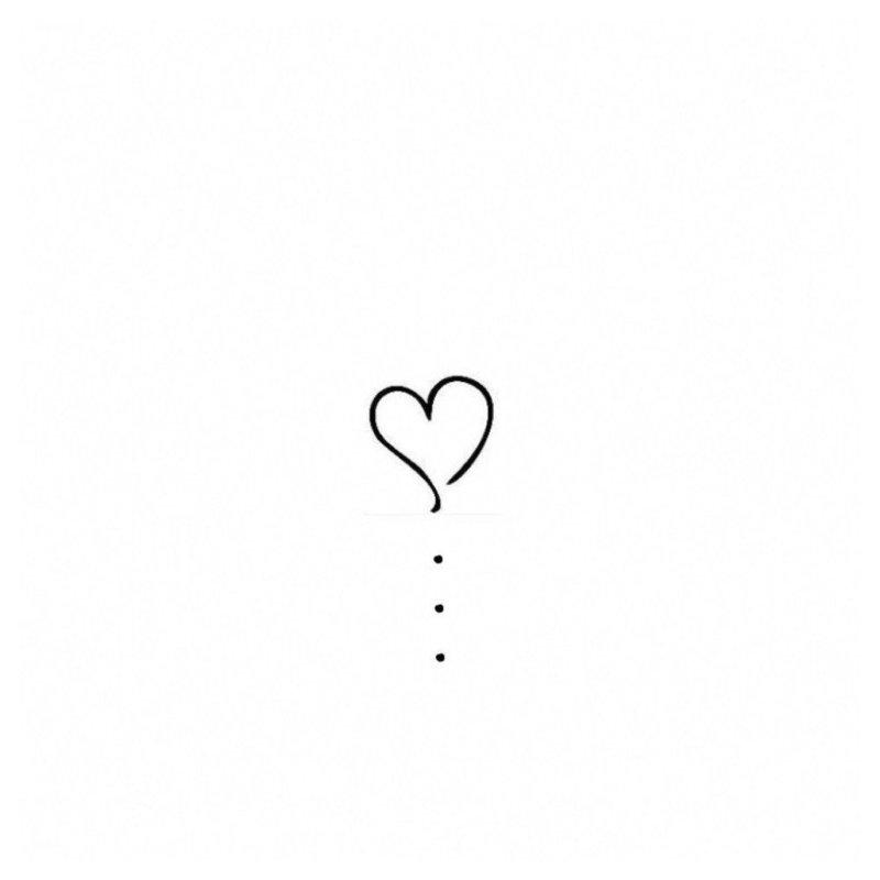 Сердце и капельки - эскиз для тату