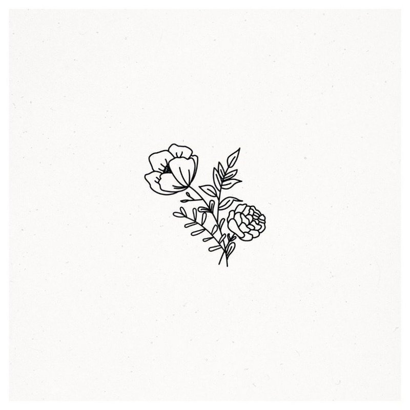 Маленький цветок эскиз для тату