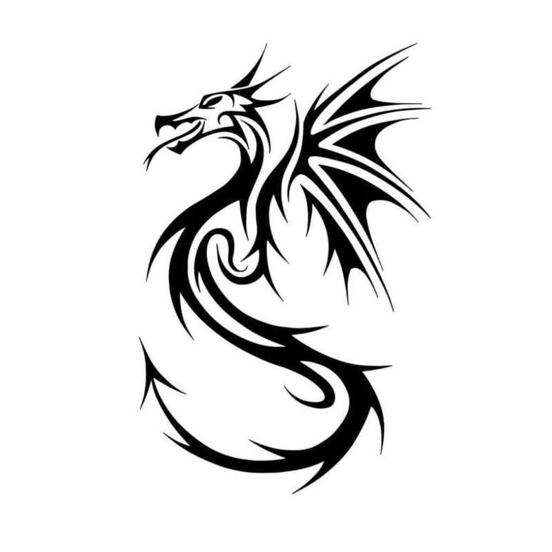 Эскиз дракона для тату