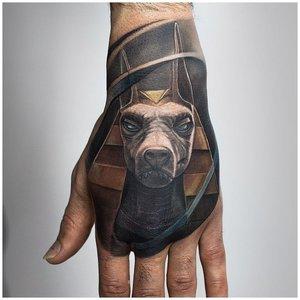 Тату животного в стиле 3D