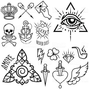 Символы эскиз для тату