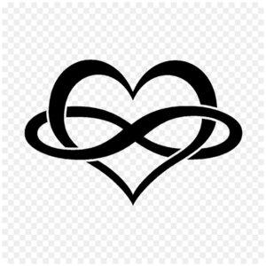 Сердце и знак бесконечности - эскиз для тату