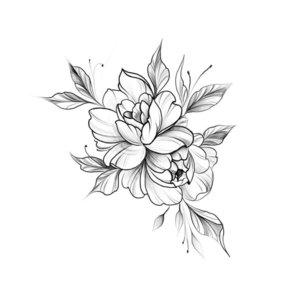 Нежный цветок эскиз для тату