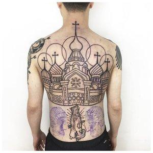 Тюремные татуировки с куполами