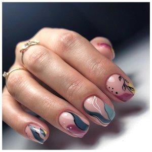 Абстракция на ногтях - дизайн