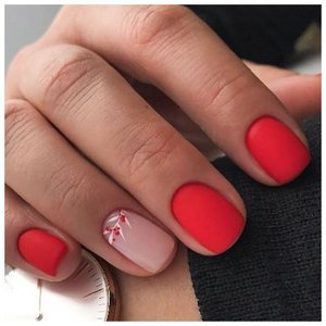 Яркие матовые ногти с дизайном
