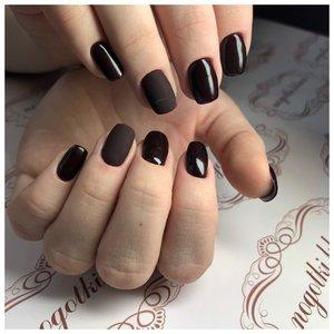 Дизайн ногтей с матовым шеллаком
