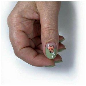 Молодежный дизайн на большом ногте