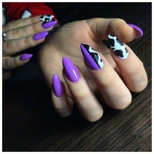 """Принт """"корова"""" на ногтях"""