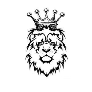 Эскиз мини-тату льва