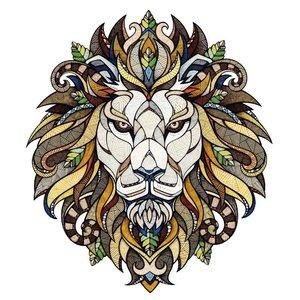 Эскиз тату льва в желтом цвете