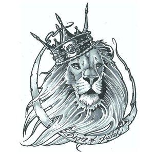 Эскиз тату льва с короной