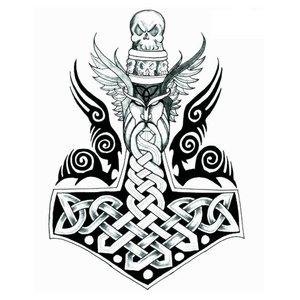 Эскиз тату на ногу с крестом и крыльями