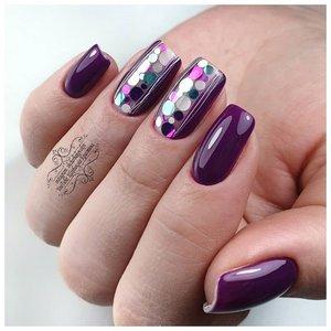 Фиолетовый шеллак с кружочками