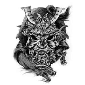 Эскиз тату с маской