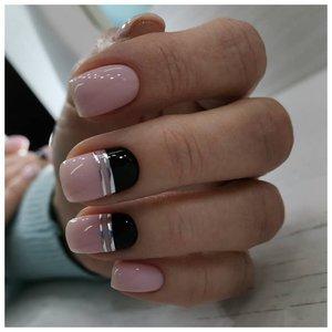 Геометрия на ногтях лентами