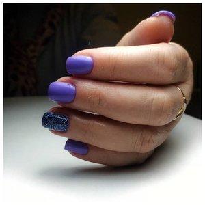 Фиолетовый шеллак фото маникюра
