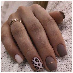 Матовые леопардовые ногти