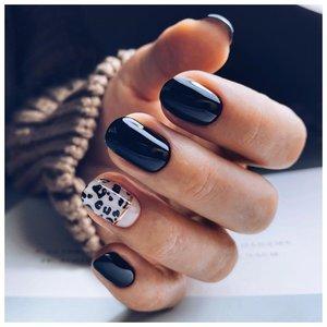 """Дизайн """"леопард"""" на коротких ногтях"""