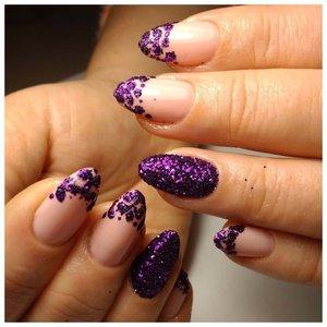 Блестящий фиолетовый шеллак сыпка