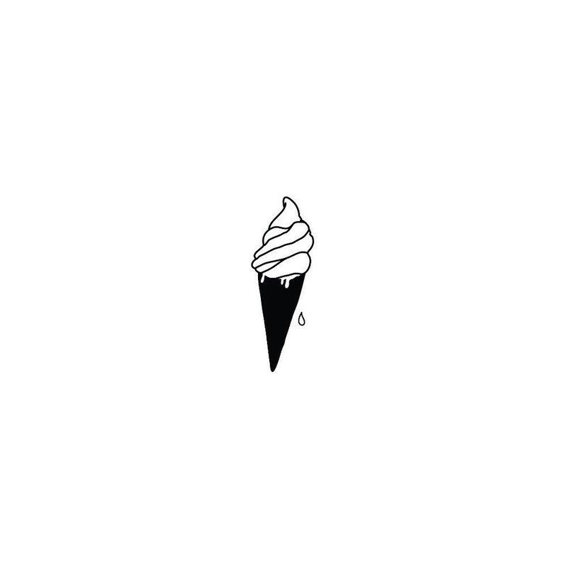 Эскиз тату мороженого