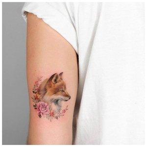 Мини-тату лисы