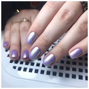 Фиолетовые шеллак с втиркой