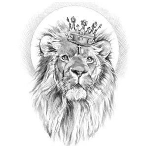 Эскиз тату короля льва