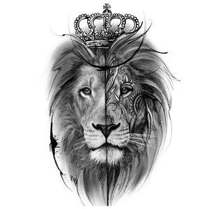 Эскиз реалистичной тату льва