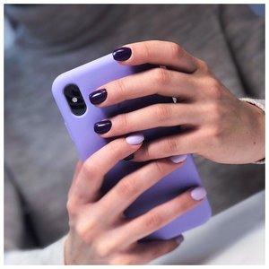 Фиолетовый маникюр разноцветный