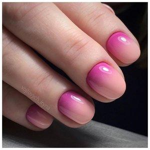 Розовый шеллак омбре