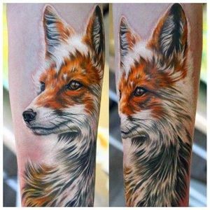 Реалистичная тату лисы