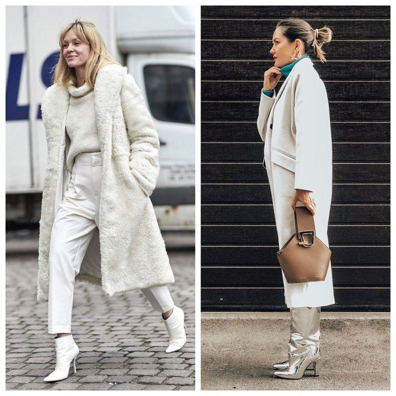 Модные зимние образы в белом цвете