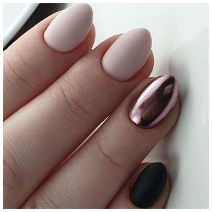 Разноцветные металлические ногти